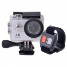 H9R Waterproof Wide Angle 4K Sports Camera w/ Remote Control - Silver