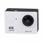 H9R Waterproof Wide Angle 4K Sports Camera w/ Remote Control - White