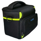 Caso ismartdigi Nylon Oxford Camera Bag para Todos DSLR - preto + Verde