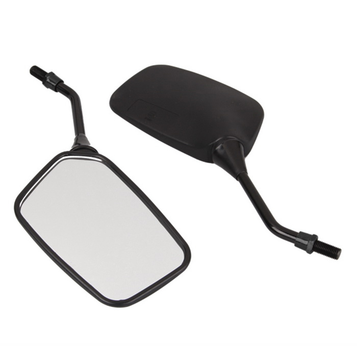 Qook Motorcycle Motorbike 10mm Side Rear View Mirrors - Black