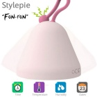 FUN-FUN Multifunctional LED Time Date Clock Night Light - Pink