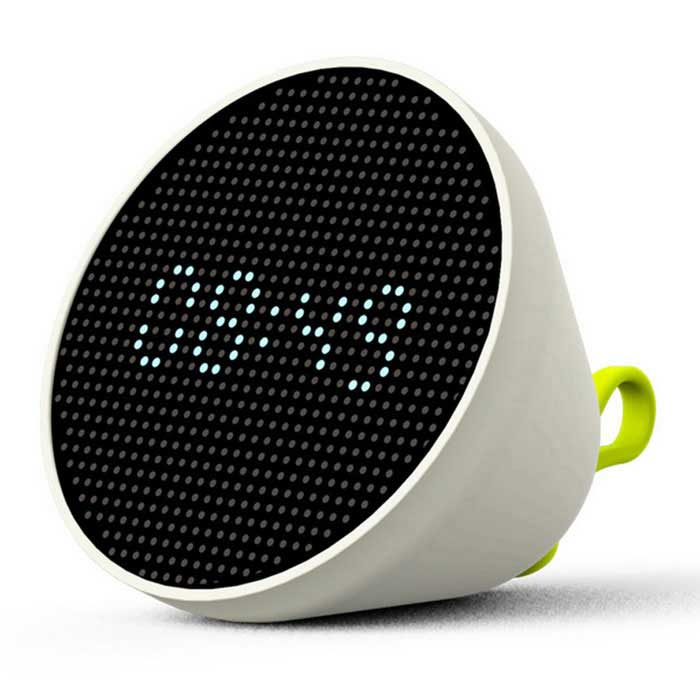 FUN-FUN Multifuncional LED Hora Data Relógio Night Light - Branco