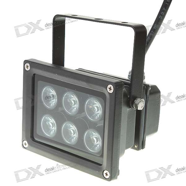 6W 6-LED 540LM High Powered Flood Light/Projection Lamp (85~240V)