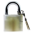 Acrylic Luminous Locksmith Lock Pick Tool Padlock - Fluorescent White