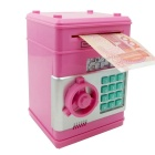 Creative Password Box Piggy Bank Mini Safe Deposit Box - Pink