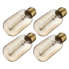 T45 40W Vintage Edison Tungsten Filament Bulbs Warm White (4PCS)
