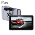 KELIMA-151 7 inch 140' Wide Angle Android Car GPS Navigator DVR - Grey