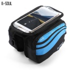 "B-SOUL YA0205 Bicycle Front Tube Bag for 5.7"" Phone - Light Blue (1L)"