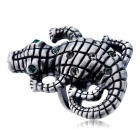 Xinguang Women's Crocodile Domineering Crystal Ring (US Size 8)