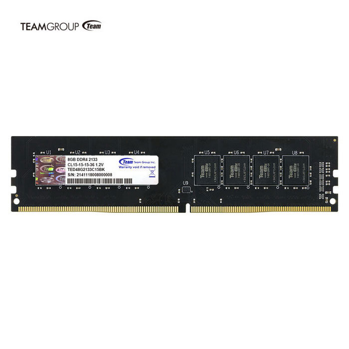 Team 8GB RAM Memory DDR4 2133 MHz PC4 17000MB/s U-DIMM for Desktop PC