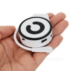 S-What Fashionable Ear-hook Type MP3 Player - Black + White