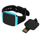 KICCY Bluetooth V4.0 OLED Touch Screen Pulseira Inteligente - Preto + Azul