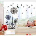 DIY 3D Decoration Removable Wall stickers Dandelion Living Room Bedroom Background