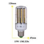 YouOKLight Dimming E27 15W 138-SMD 5733 Cold White LED Corn Bulb