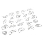 Solution Ring Buckle Static Metal Puzzel Speelgoed - Zilver (24PCS)