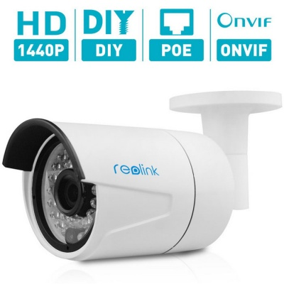 Reolink RLC-410 4MP POE Security IP Camera w/ ONVIF - White
