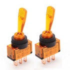 Modified Rocker Switches with Orange Working Indicator Lights for 12V Cars and Motorcycles