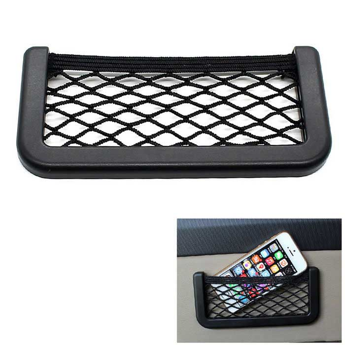 CS-318A1 17 * 8 Multi-purpose Net Bag for Car - BlackOther Interior<br>Form  ColorBlackModelCS-318A1Quantity1 DX.PCM.Model.AttributeModel.UnitMaterialnylonOther Features1. Material: plastic frame, nylon rope braid; <br>2. Suitable models: all cars, saloon cars, passenger cars, buses and other; <br>3. Product features: Storage can be used as a mobile phone, cigarette, etc. crossings single, easy to organize small items make the car neat and elegant inside.Packing List1 * 17 * 8 string bag4 * Screws<br>