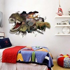 Removable DIY 3D Dinosaur Wall Decorative Wall Sticker - Leopard