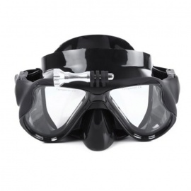 Silicone Diving Goggles Snorkeling Mask - Black