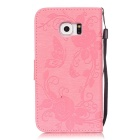BLCR Butterfly Pattern Case for Samsung Galaxy S6 Edge - Pink