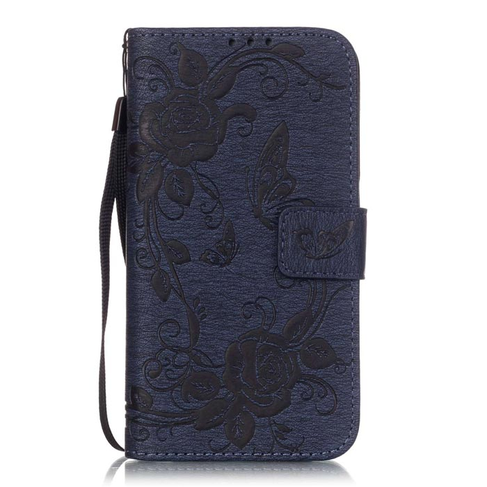 BLCR Butterfly Pattern Case for Samsung Galaxy S6 Edge - Deep BlueLeather Cases<br>Form ColorDeep BlueModelN/AMaterialPU + TPUQuantity1 DX.PCM.Model.AttributeModel.UnitShade Of ColorBlueCompatible ModelsSamsung Galaxy S6 EdgeFeaturesAnti-slip,Shock-proof,Abrasion resistance,Easy-to-remove,Holder functionPacking List1 * Case1 * Strap<br>