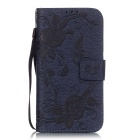 BLCR Butterfly Pattern Case for Samsung Galaxy S6 Edge - Deep Blue