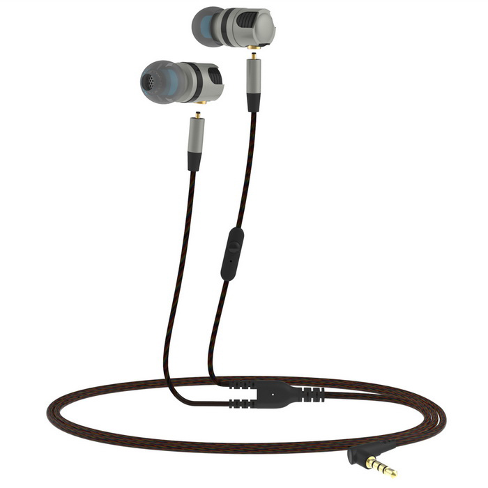 PLEXTONE Hi-Fi Wired Music Headset Detachable In-Ear w/ Mic - Grey