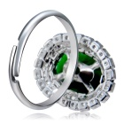 Xinguang Women's Exquisite Adjustable Crystal Inlaid Ring - Silver