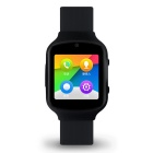 Android 5.1 2.5D Arc Screen 3G Smartwatch Phone - Black