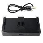 Dual 2 Charger Kit Micro USB Charger for GoPro 4 3 2 - Black