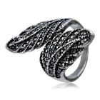 Xinguang Women's Retro Shiny 2-Leaf Connecting Style Ring