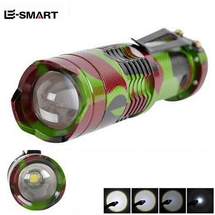 e-inteligente SK68 180lm 3-modos mini-zoomable Lanterna LED / XPE-Q5