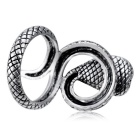 Xinguang Women's Red Eye Snake Shape Crystal Ring - Silver (US Size 9)