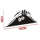 ZIQIAO Funny Peeking Monster Voyeur Car Sticker - Black