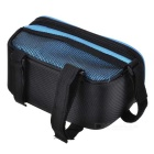 "B-SOUL YA0207 Bicycle Top Tube Bag for 5.7"" Phone - Black + Blue(1.8L)"