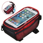 "Polyester + PU Bicycle Top Tube Bag Phone Bag for 5.7"" Phone"