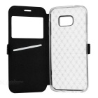 Rhombus Pattern Case w/ Visual Window for Samsung S7 Edge - Black