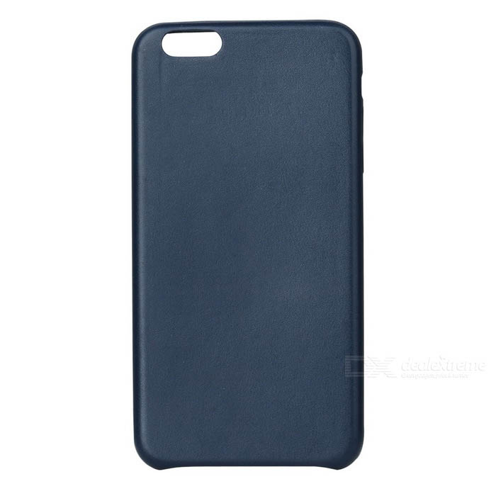 Protective PU Back Case for IPHONE 7 PLUS - Deep Blue