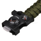 CTSmart Multifunctional Survival Paracord Bracelet - Army Green