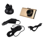 "GT900 96220 3"" HD Vehicle Car Data Recorder DVR - Gold"
