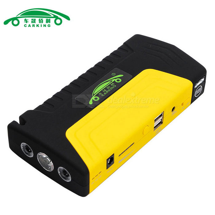 CARKING 16800mAh Car Jump Starter Power Bank LED - Yellow + Black