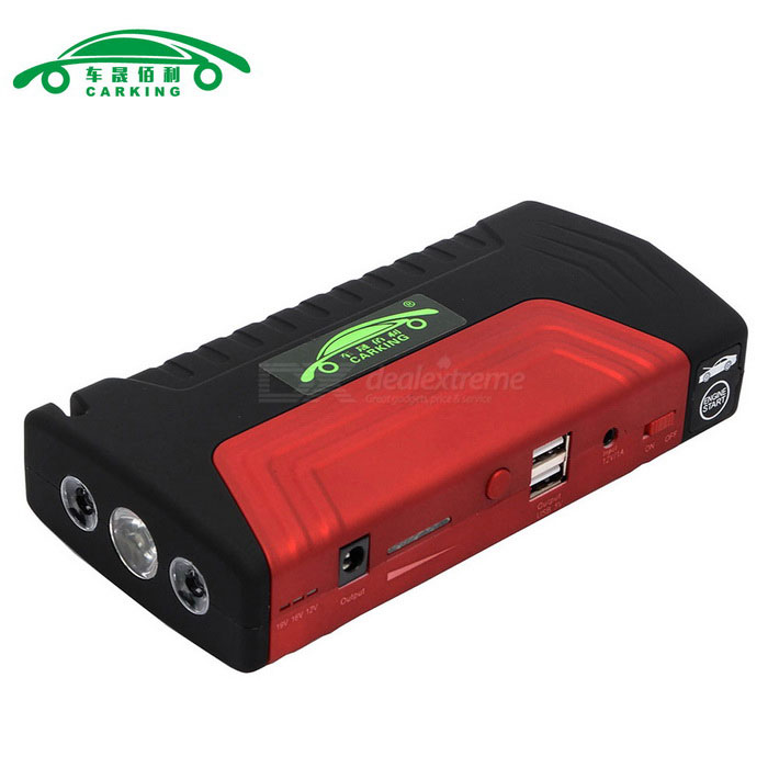 CARKING 16800mAh Car Jump Starter Power Bank LED - Red + Black