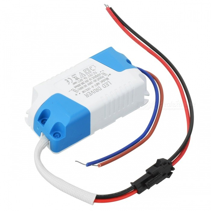 300mA 9W Power Constant Current Source LED Driver (85~265V)DIY Parts &amp; Components<br>Form  ColorWhitePacking List<br>