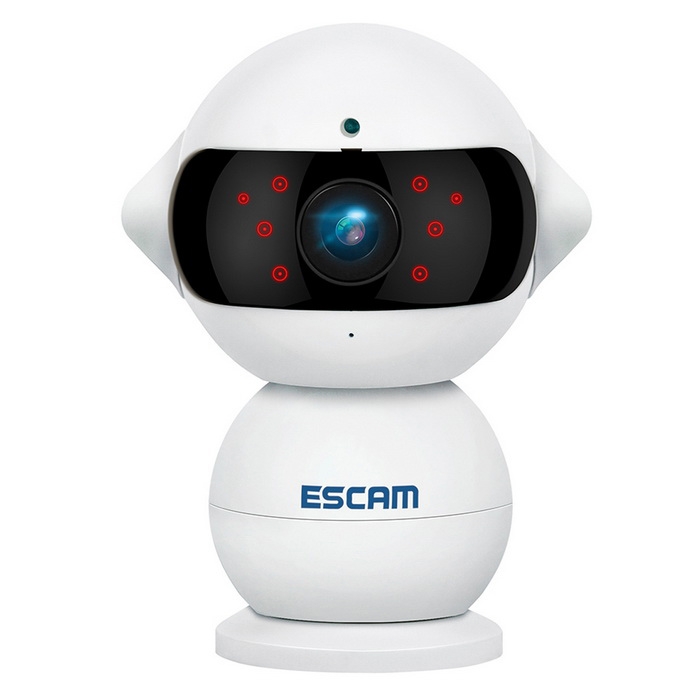 ESCAM QF200 960P Mini Robot 1.3MP Wi-Fi AP IR IP Camera (EU Plug)