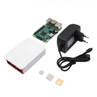 Raspberry Pi 3 Model B +Case + 5V 2.5A Plug + Heatsink Kit