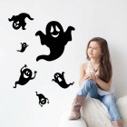Removable DIY 3D Ghost Wall Sticker - Black