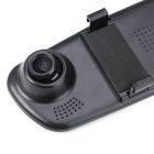 "4.3"" Double Lens Car Traveling Data Recorder DVR - Black"