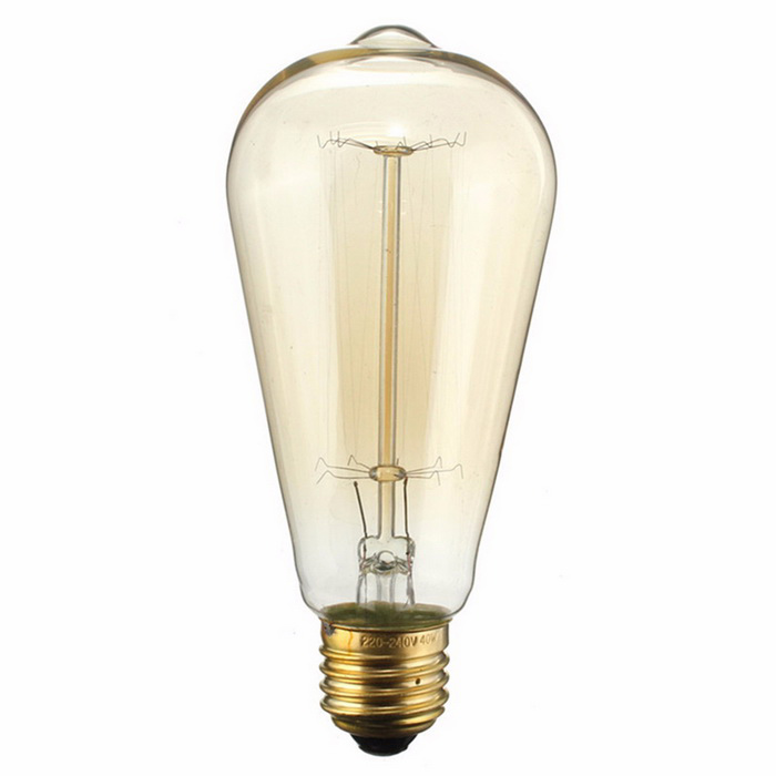 E27 40w st58 vintage edison tungsten filament bulb warm white 2300k free shipping dealextreme Tungsten light bulbs