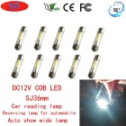 JRLED SJ36mm 1W froid blanc COB LED lampe de lecture de voiture (DC12V / 10PCS)